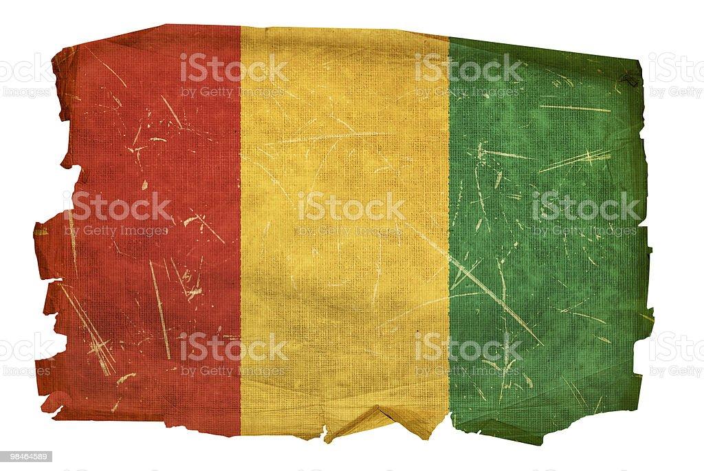 Bandiera della Guinea vecchio, isolato su sfondo bianco. bandiera della guinea vecchio isolato su sfondo bianco - immagini vettoriali stock e altre immagini di abbigliamento royalty-free