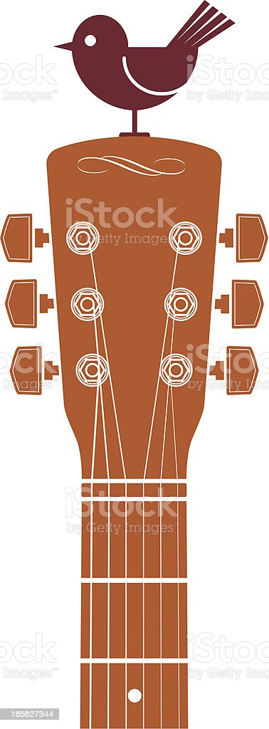 Guitar and bird royalty-free stock vector art