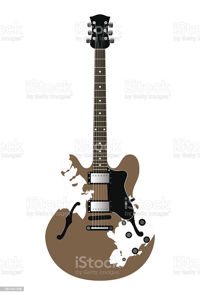 guitar electric vector art illustration
