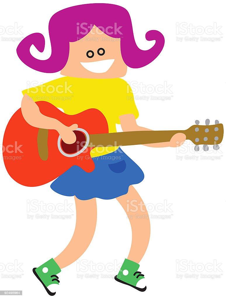 Guitar Girl royalty-free guitar girl stock vector art & more images of acoustic guitar