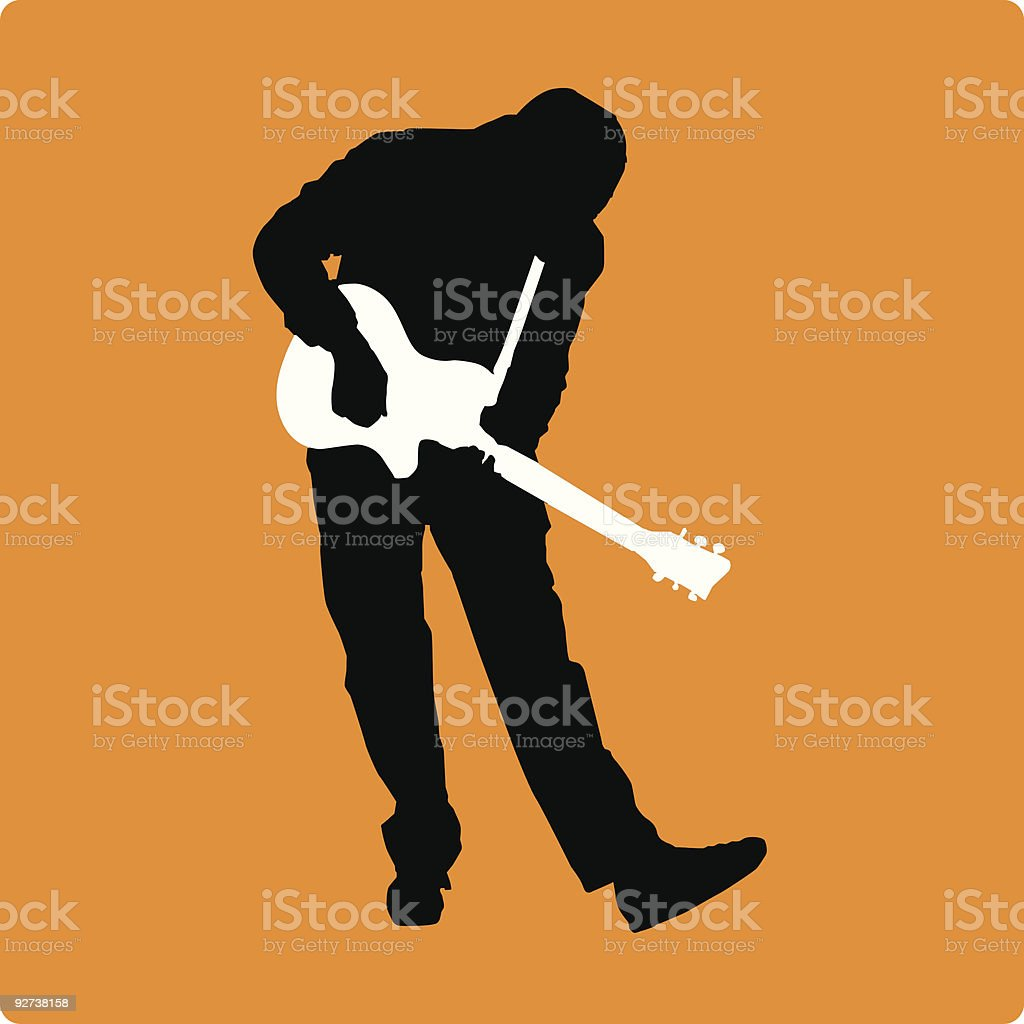 Guitarist with Small Guitar (vector illustration) royalty-free stock vector art