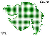 istock Gujarat (India) Map  doted type High Quality 850121590