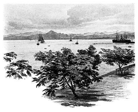 Gulf of Suva on Viti Levu, seen from the city