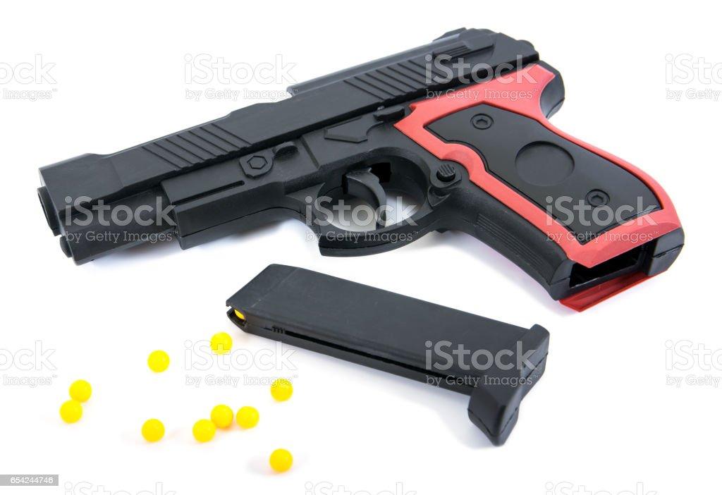 Beyaz Arka Plan üzerinde Izole Silah Oyuncak Izole Silah Oyuncak
