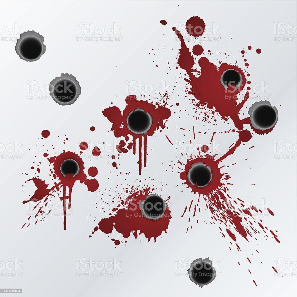Gunshot blood splatter background royalty-free gunshot blood splatter background stock vector art & more images of backgrounds