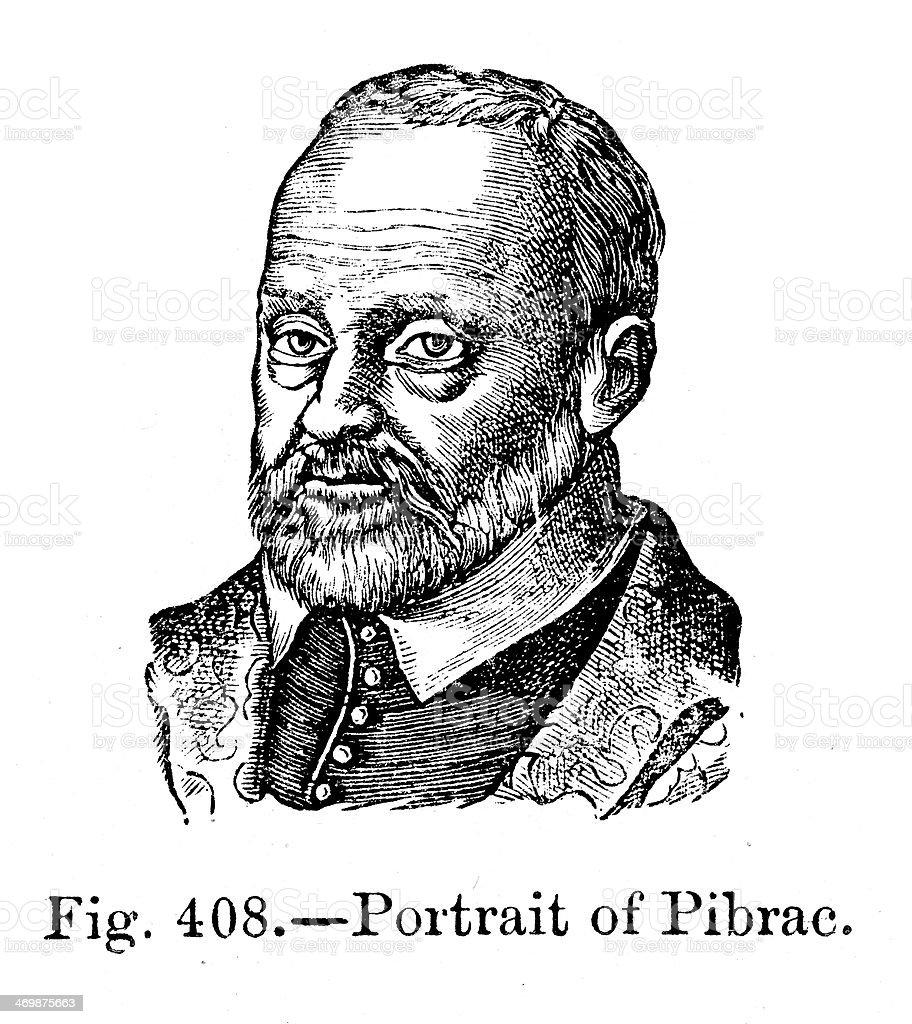 Guy Du Faur, Seigneur de Pibrac royalty-free stock vector art