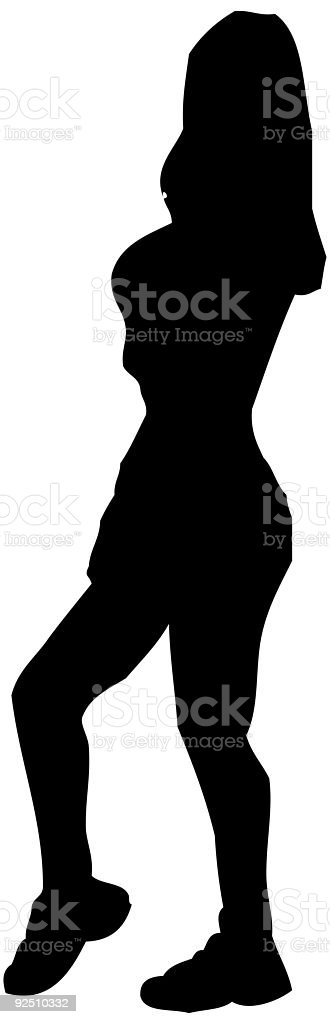 Gyn Girl Silhouette royalty-free gyn girl silhouette stock vector art & more images of 18-19 years
