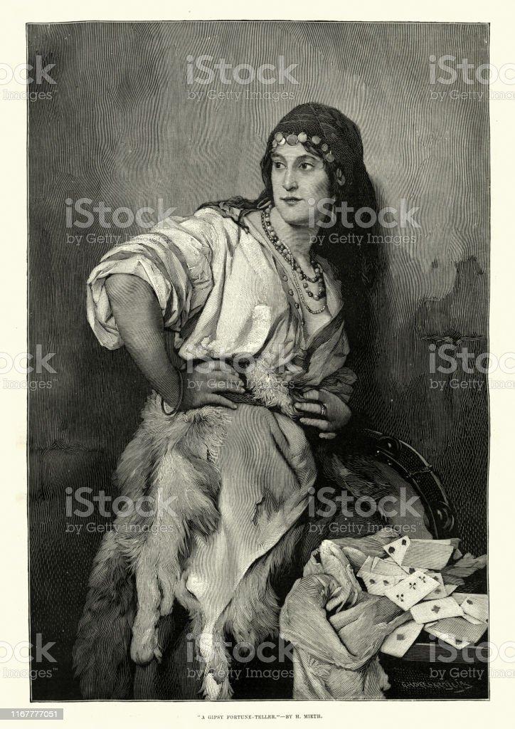 Historic Photo Print Beautiful Fortune Teller Gypsy Woman