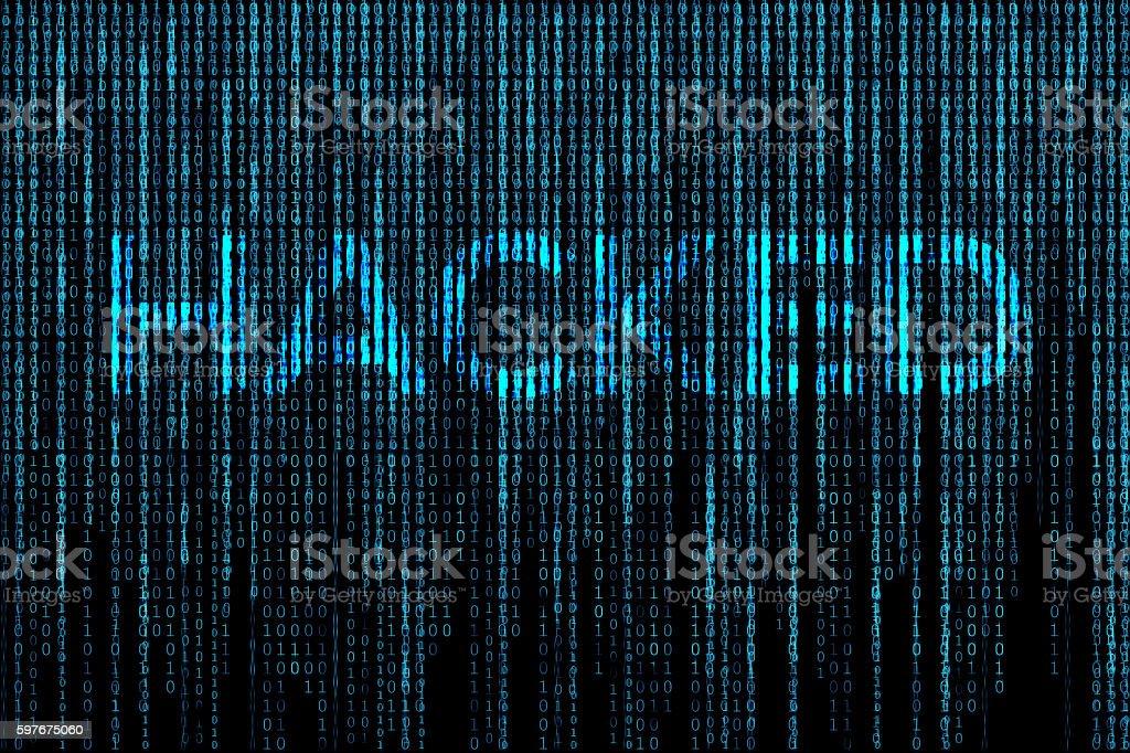 Hacked matrix background vector art illustration