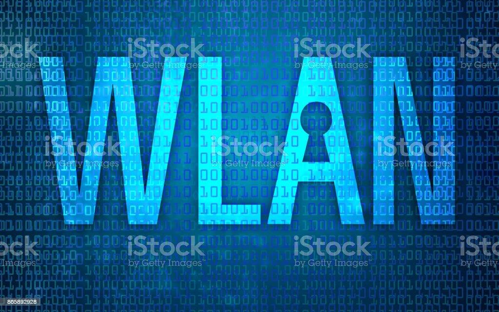 Hacked WLAN Router - Modem vector art illustration