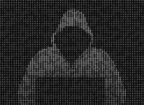 Hacker in a hoodie - ASCII art