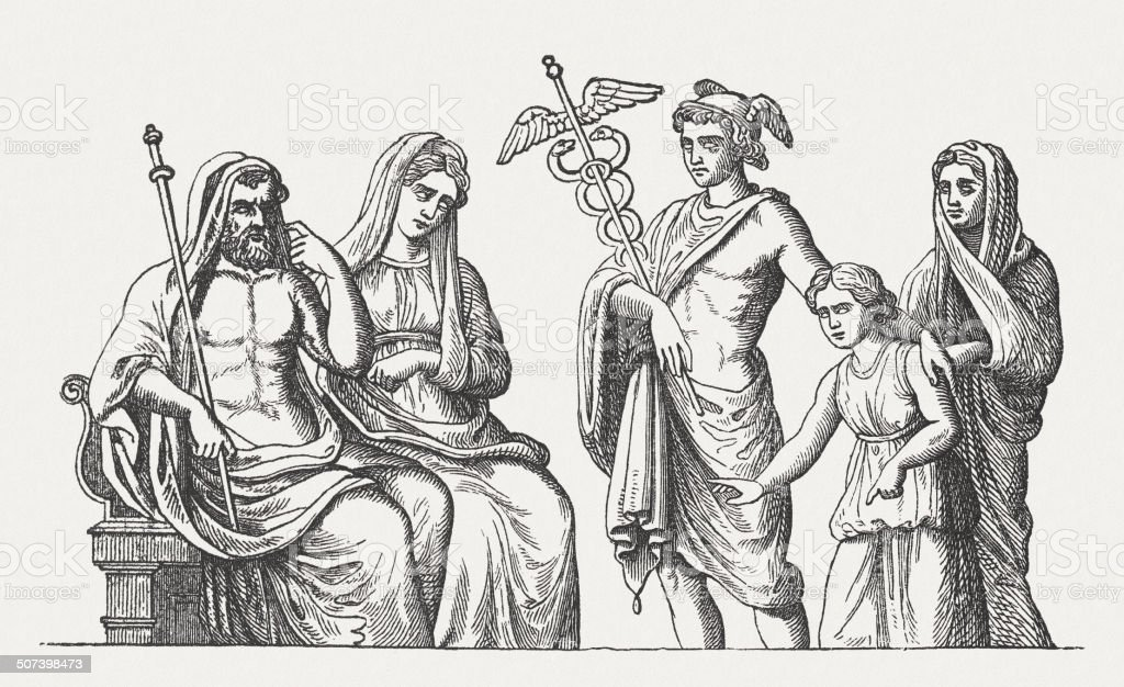 Hades Persephone And Mercury Stock Illustration Download