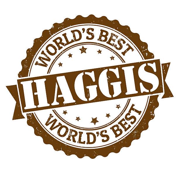 haggis stamp - haggis stock illustrations, clip art, cartoons, & icons