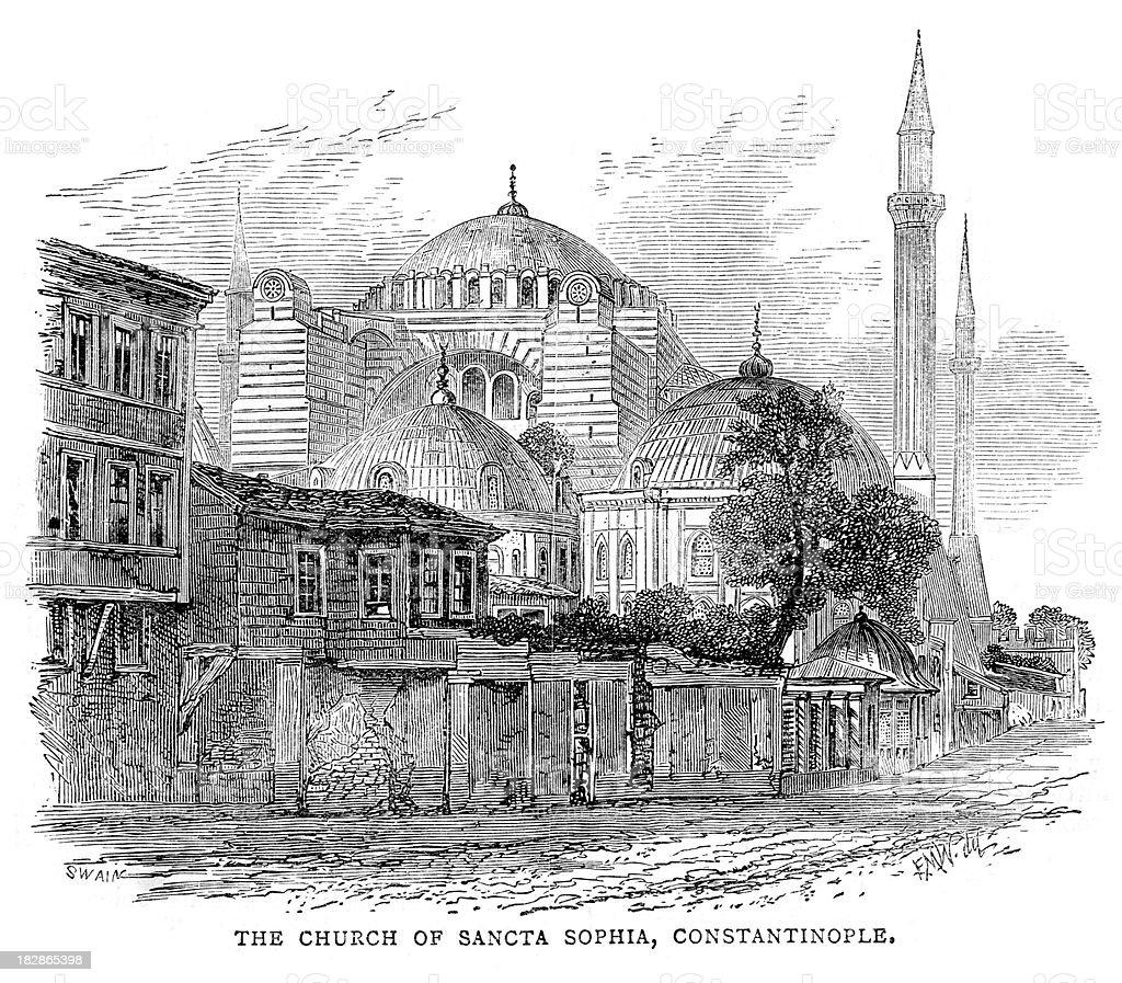 Hagia Sophia, Constantinople royalty-free hagia sophia constantinople stock vector art & more images of 19th century