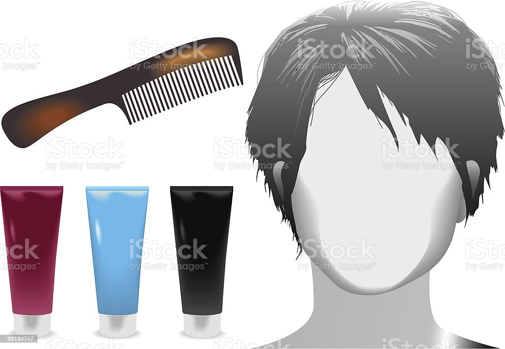 hair salon woman face mannequin tortoise shell comb care products royalty-free hair salon woman face mannequin tortoise shell comb care products stock vector art & more images of adult