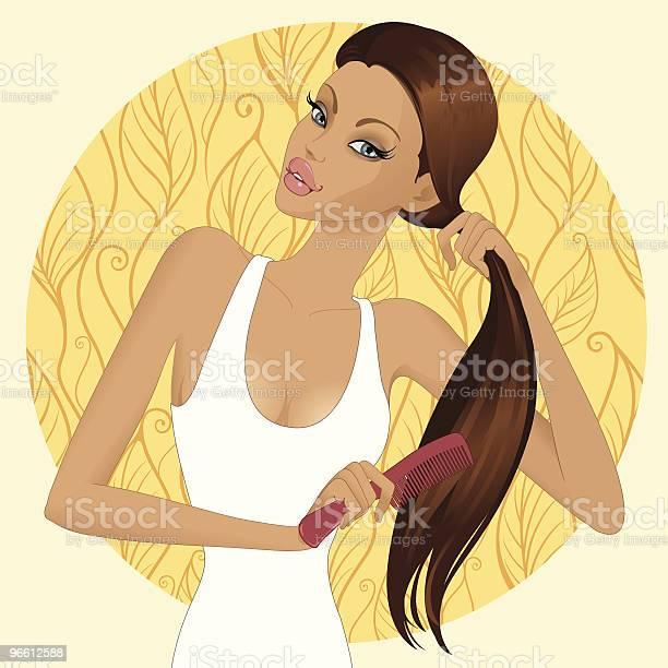 Haircare Stockvectorkunst en meer beelden van Alleen volwassenen