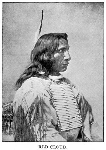 halftone print of Red Cloud, chief Oglala Lakota