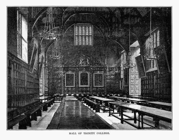Victorian Foyer University : Royalty free trinity college cambridge university clip art