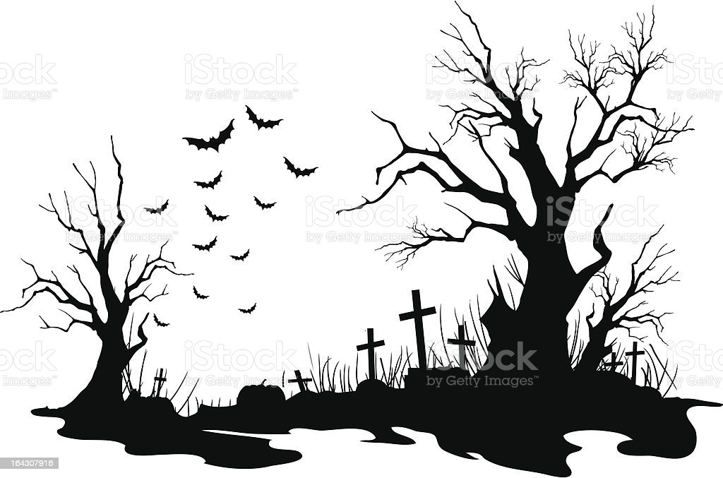 royalty free graveyard clip art vector images illustrations istock rh istockphoto com graveyard clipart black and white graveyard fence clipart