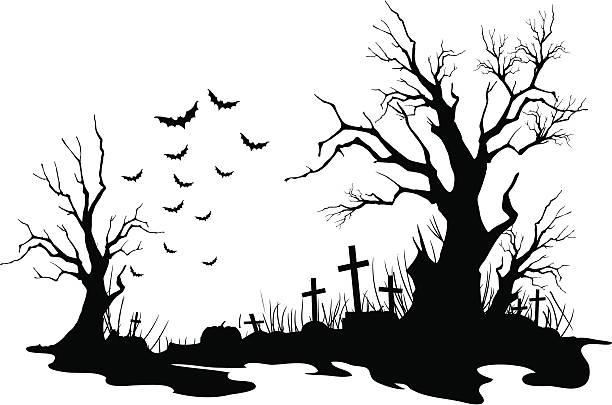 ハロウィーンの背景 - 恐怖点のイラスト素材/クリップアート素材/マンガ素材/アイコン素材