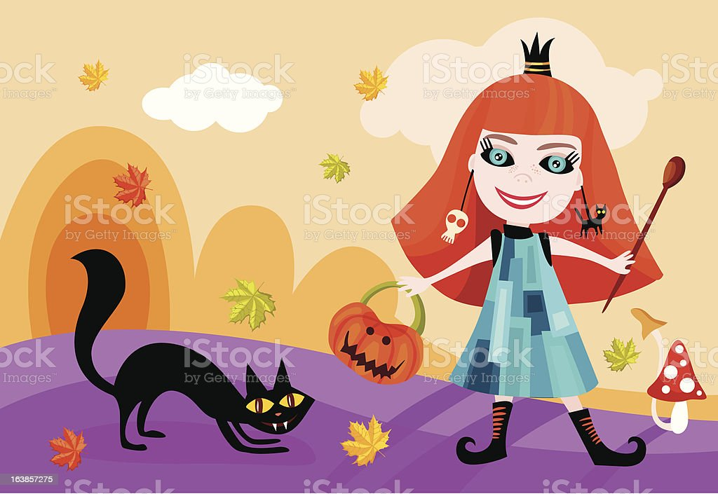 halloween card vector art illustration