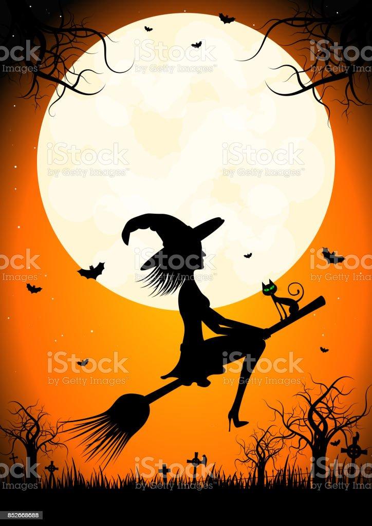 Halloweenkarte Vorlagen Stock Vektor Art Und Mehr Bilder Von Baum