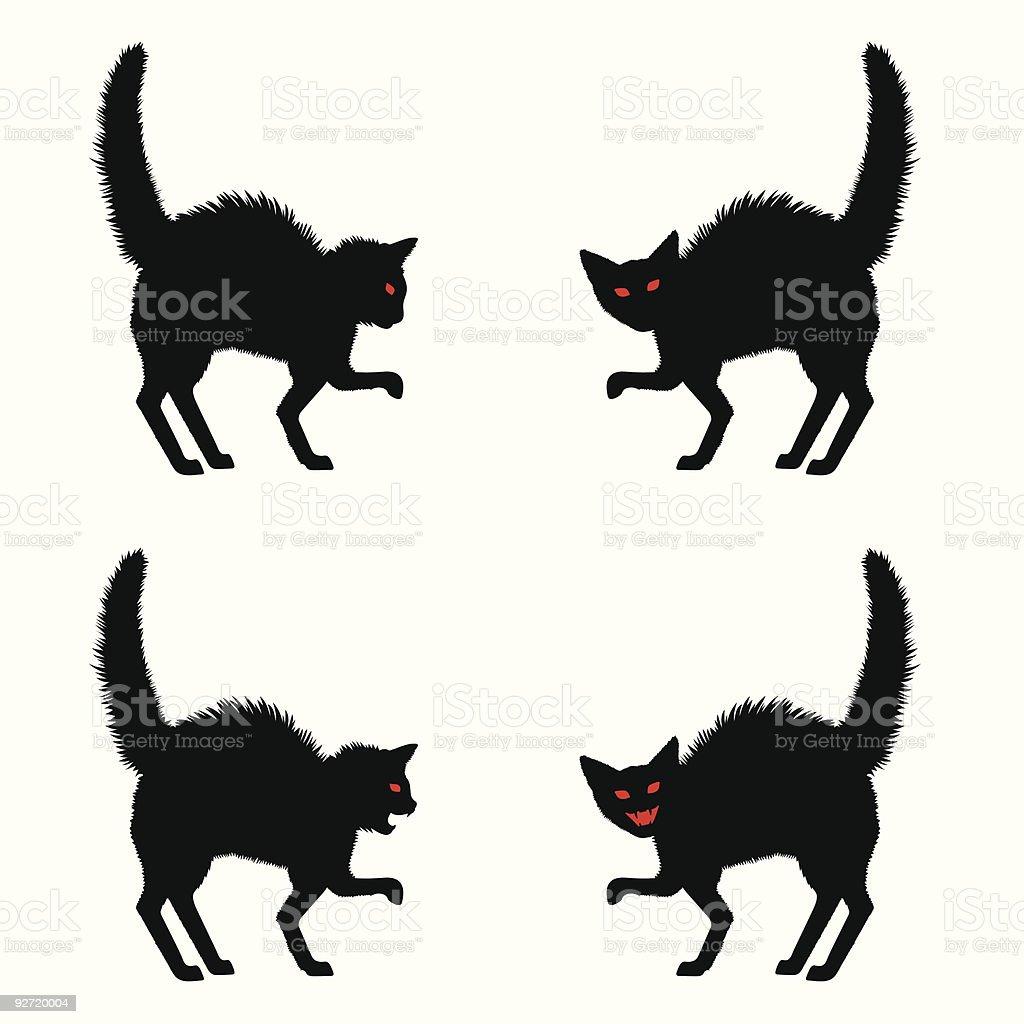 Halloween Cat silhouette vector art illustration