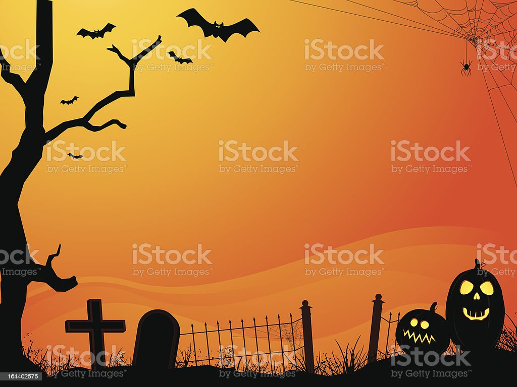 Halloween Cemetery Layout royalty-free stock vector art