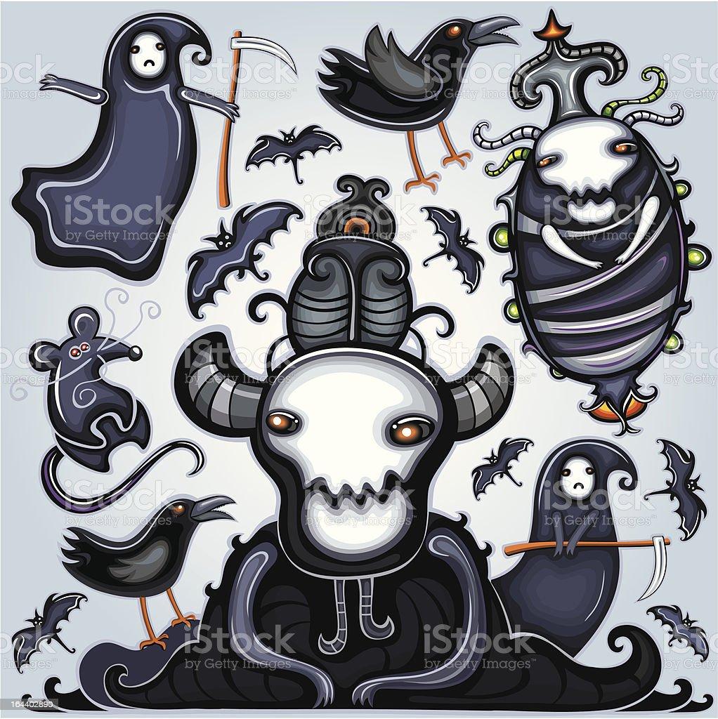 Halloween dark set royalty-free stock vector art