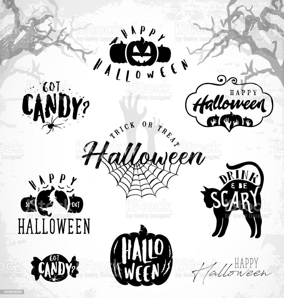 Ilustración De Elementos De Diseño De Halloween Para Fiestas