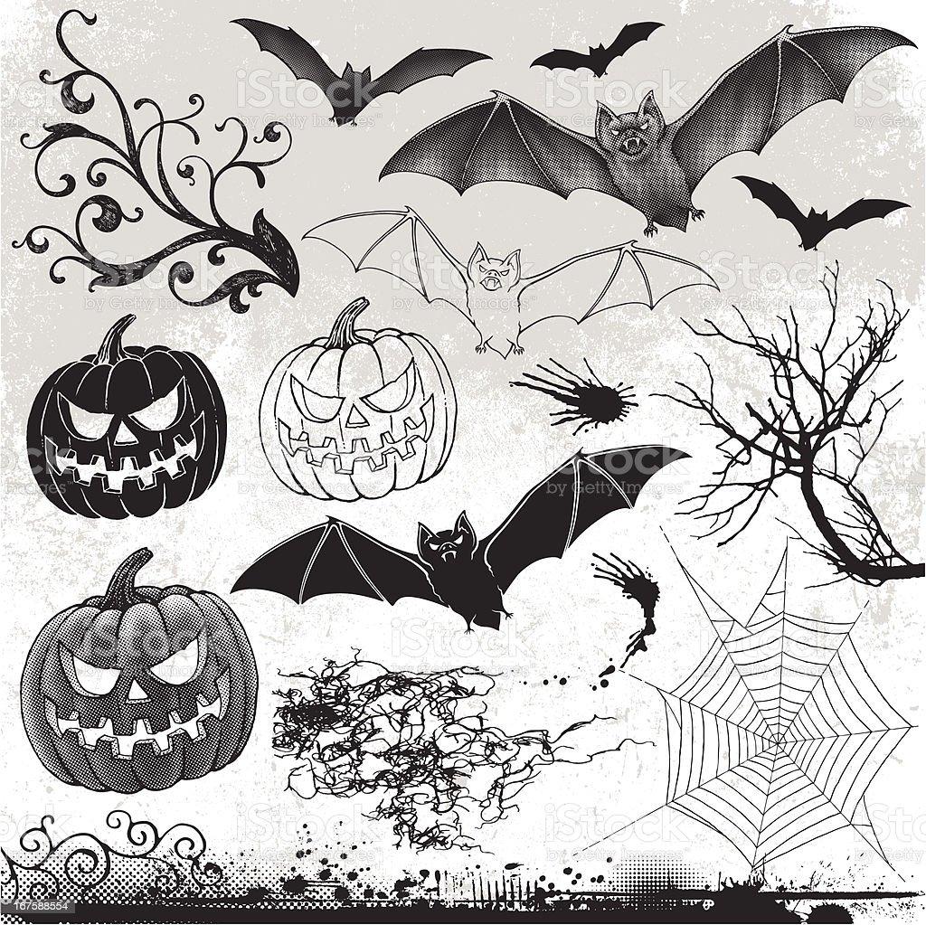 Halloween Design Elements royalty-free stock vector art