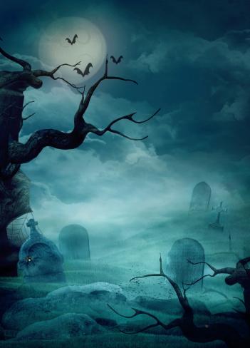 Halloween Design - Spooky Graveyard