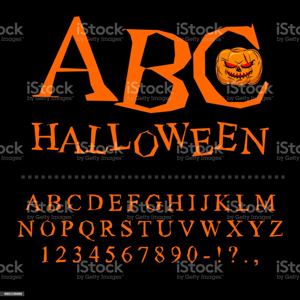 Halloween Font Curves Of Letters To Terrible Holiday Broken