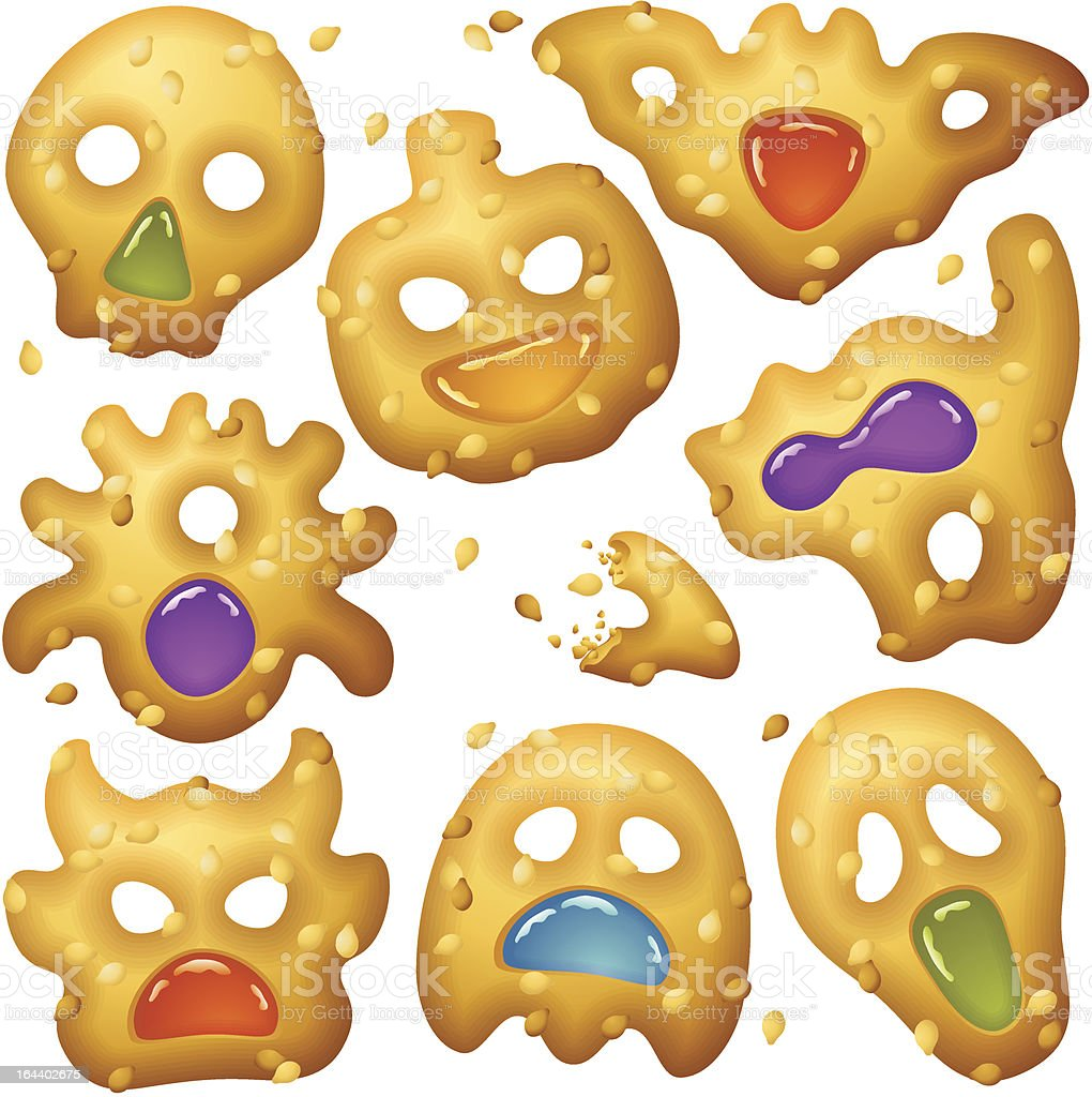 Halloween Food 2. Creepy Treats and Tasty Eats royalty-free stock vector art