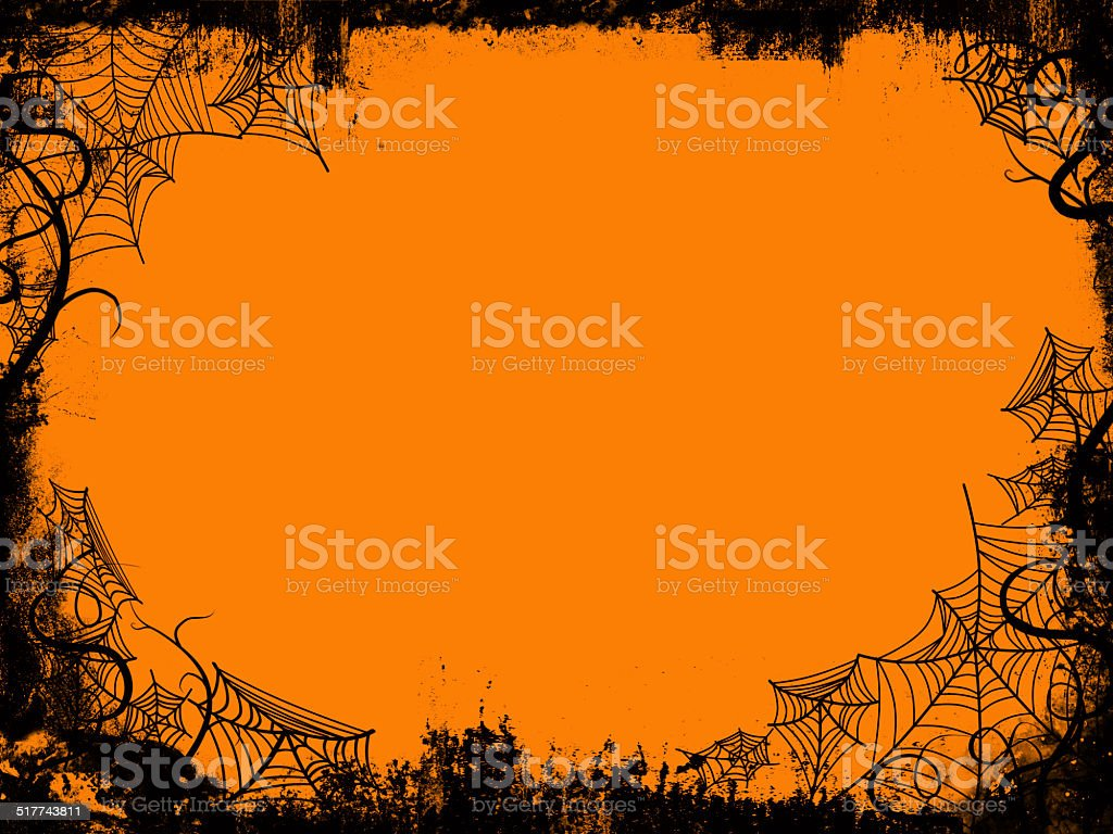 halloween frame vector art illustration