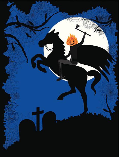 halloween headless horseman - 被砍頭 幅插畫檔、美工圖案、卡通及圖標