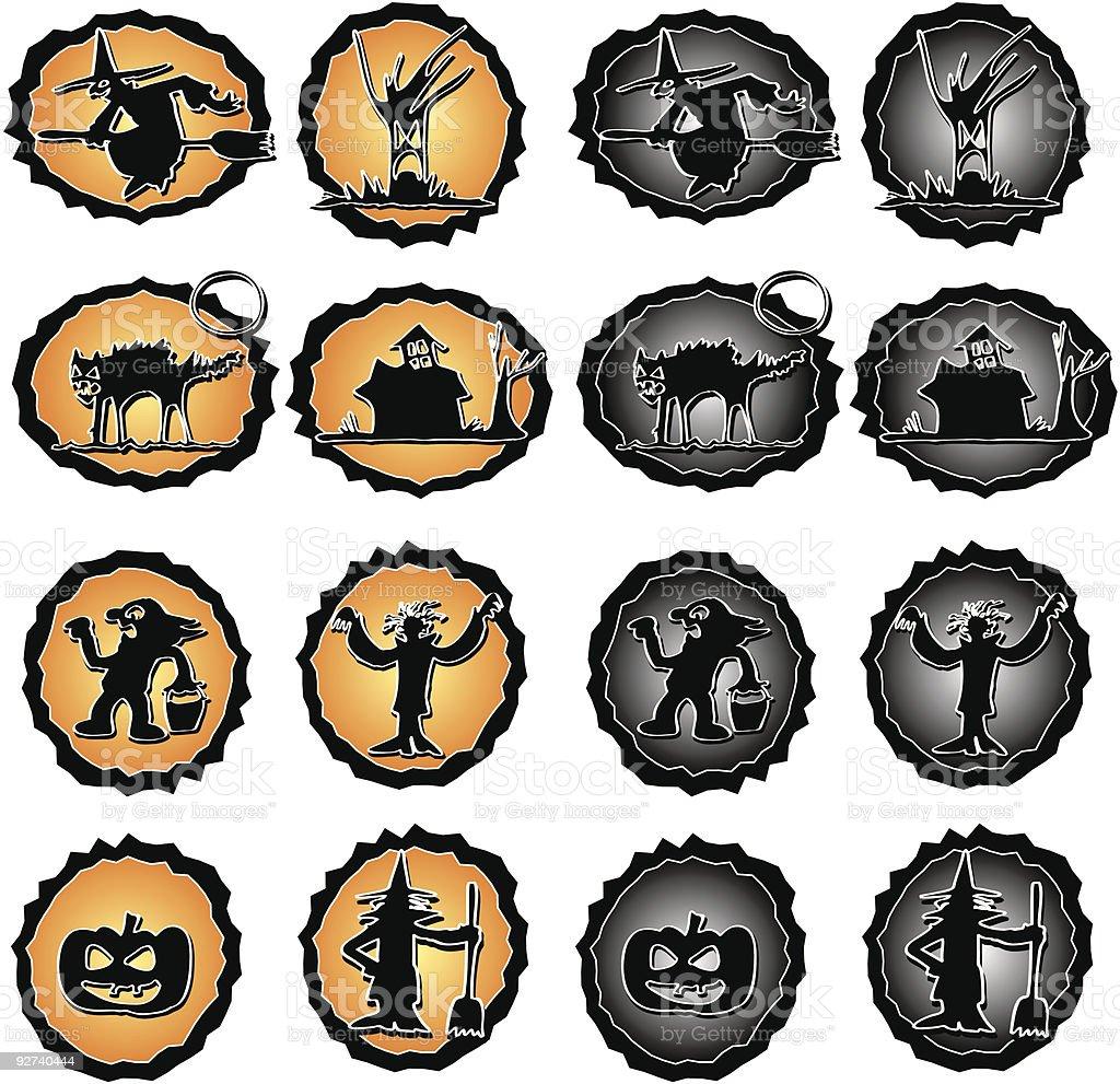 Halloween-Symbol Lizenzfreies halloweensymbol stock vektor art und mehr bilder von baum