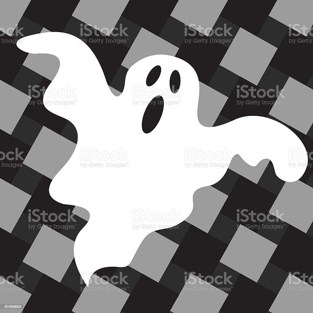 Halloween Illustration o3 - Ghost royalty-free stock vector art