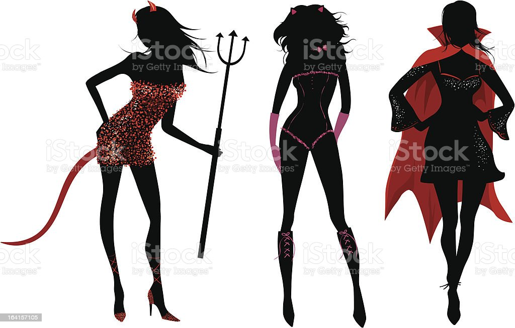 Halloween party silhouettes royalty-free halloween party silhouettes stock vector art & more images of adult