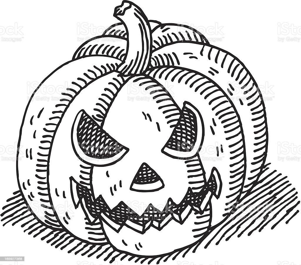 halloween pumpkin drawing stock vector art more images of black