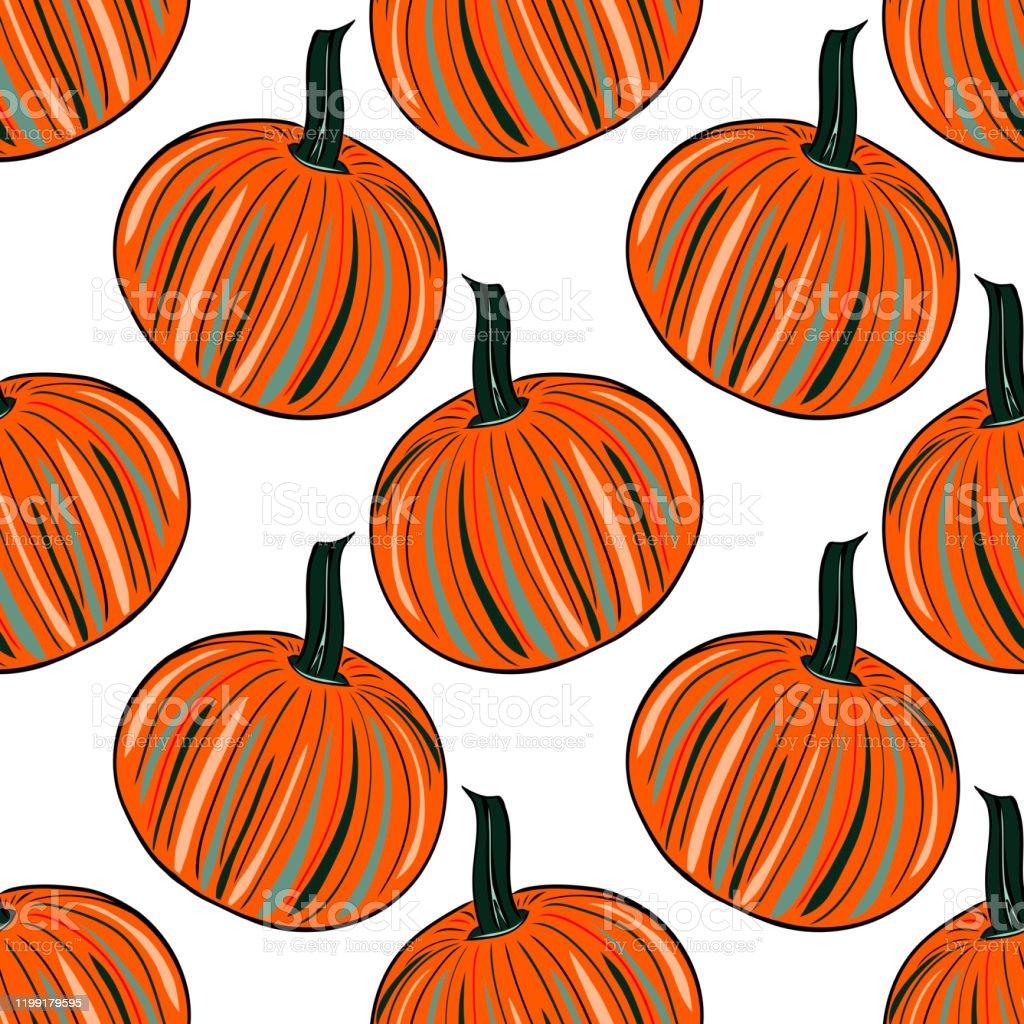 Halloween Pumpkin Seamless Wallpaper Stock Illustration Download Image Now Istock