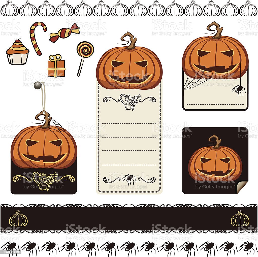 Halloween Pumpkin Set royalty-free halloween pumpkin set stock vector art & more images of autumn