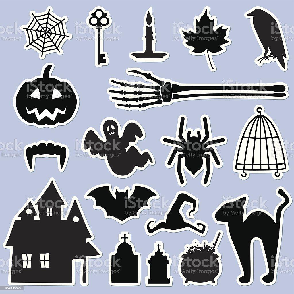 Halloween stickers royalty-free stock vector art