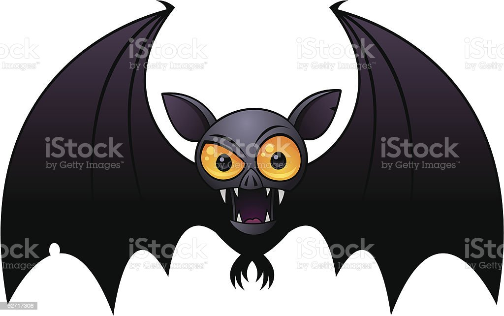 Halloween Vampire Bat vector art illustration