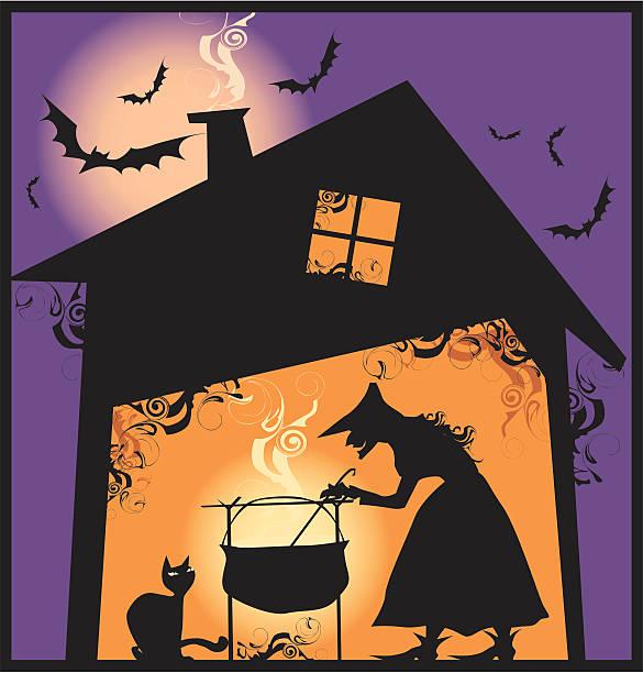 halloween's posiłek - burma home do stock illustrations