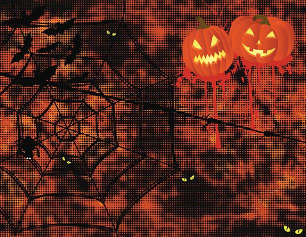 Hallowen Spooky Background vector art illustration