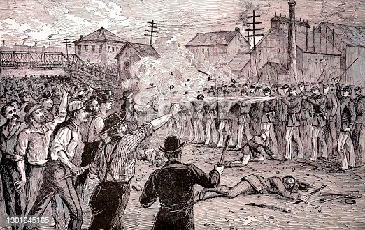 Halsted Street Riot in Chicago, 1877