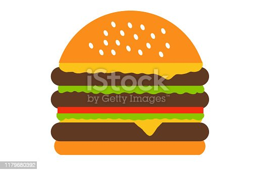 Hamburger illustration, drawing, burger