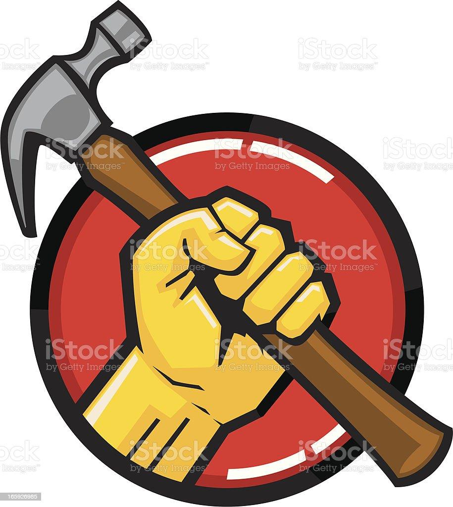 hammer fist royalty-free stock vector art