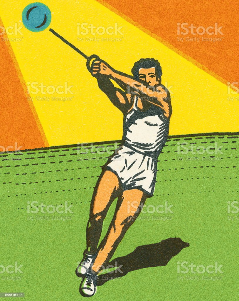 Hammer Throw royalty-free stock vector art